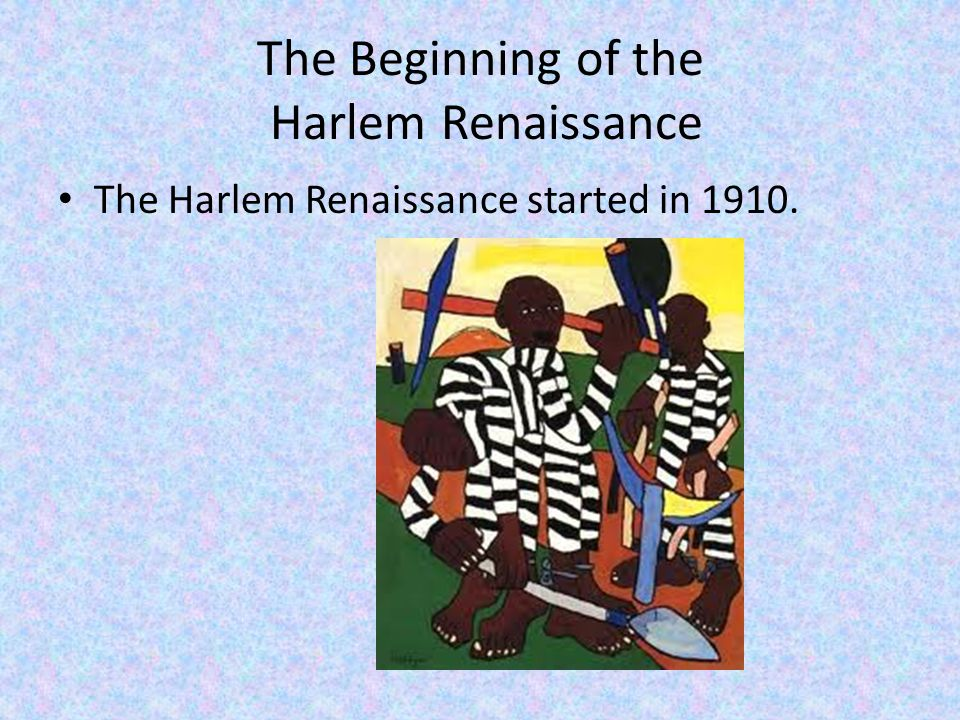 The Harlem Renaissance In 1922 the first anti-lynching legislation was approved by The House of Representatives.