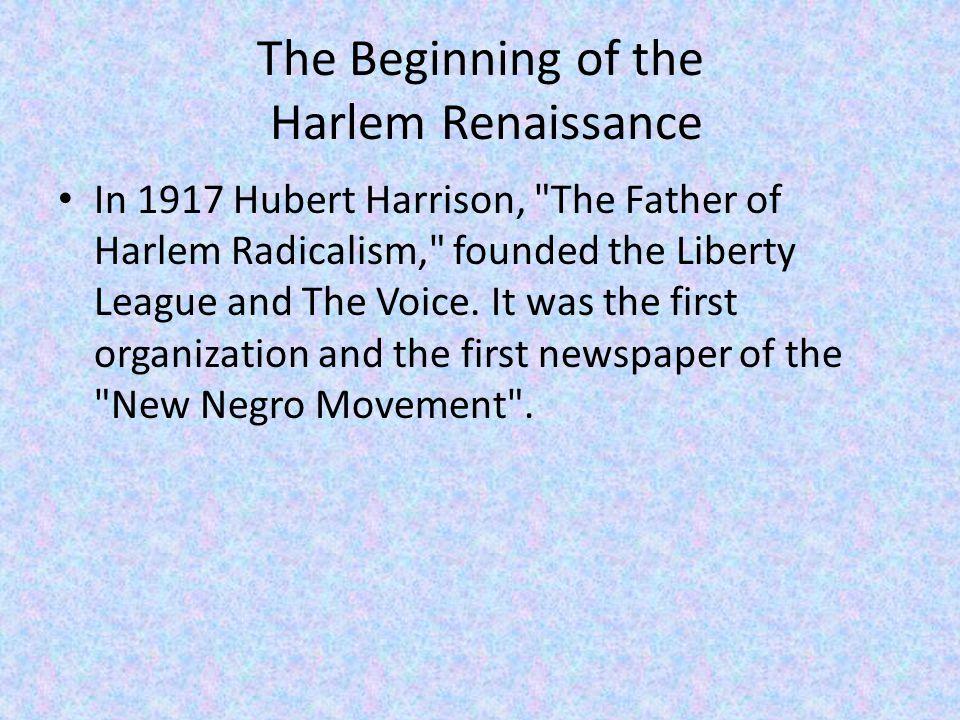The Harlem Renaissance Music The Harlem Stride Style was created during the Harlem Renaissance.