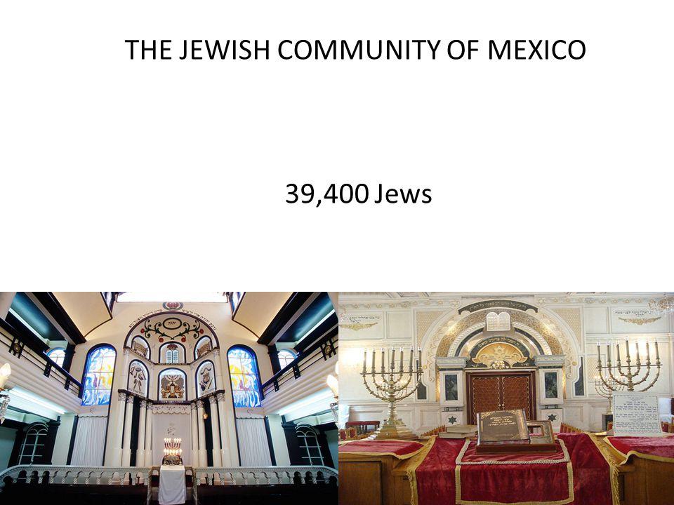 THE JEWISH COMMUNITY OF MEXICO 39,400 Jews