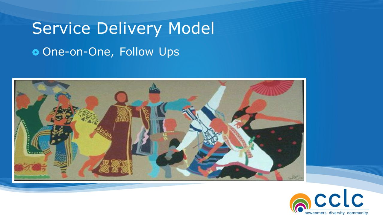 Service Delivery Model  One-on-One, Follow Ups