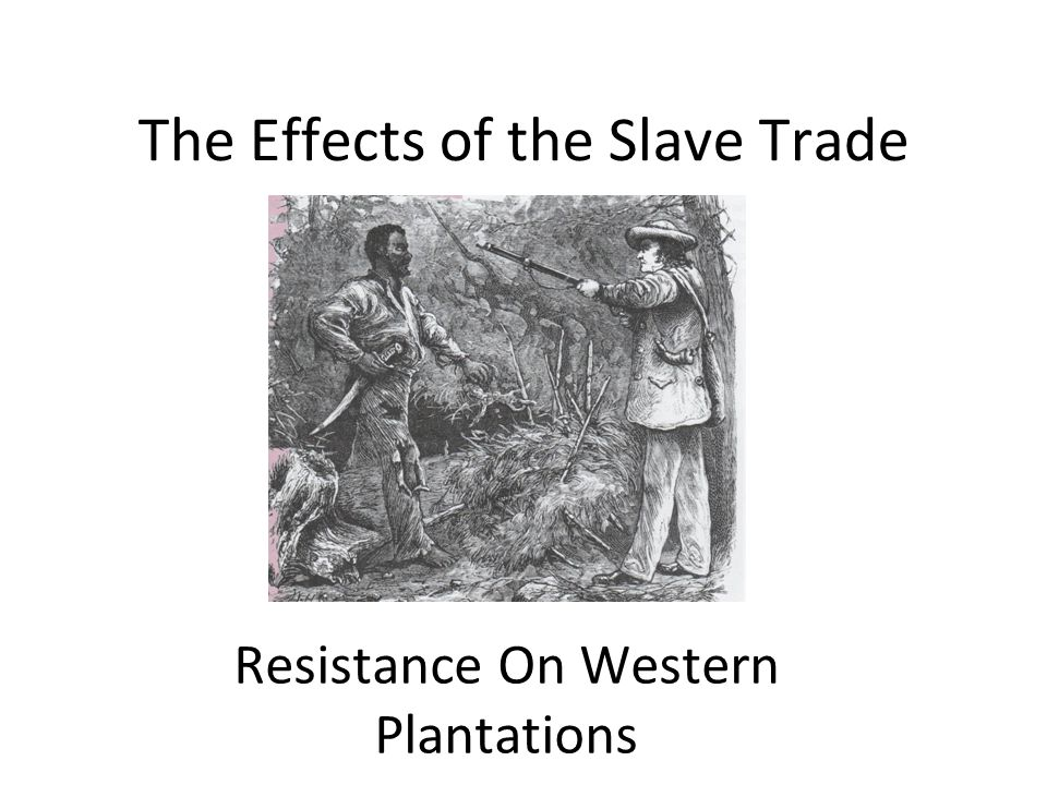 The Effects of the Slave Trade Resistance On Western Plantations