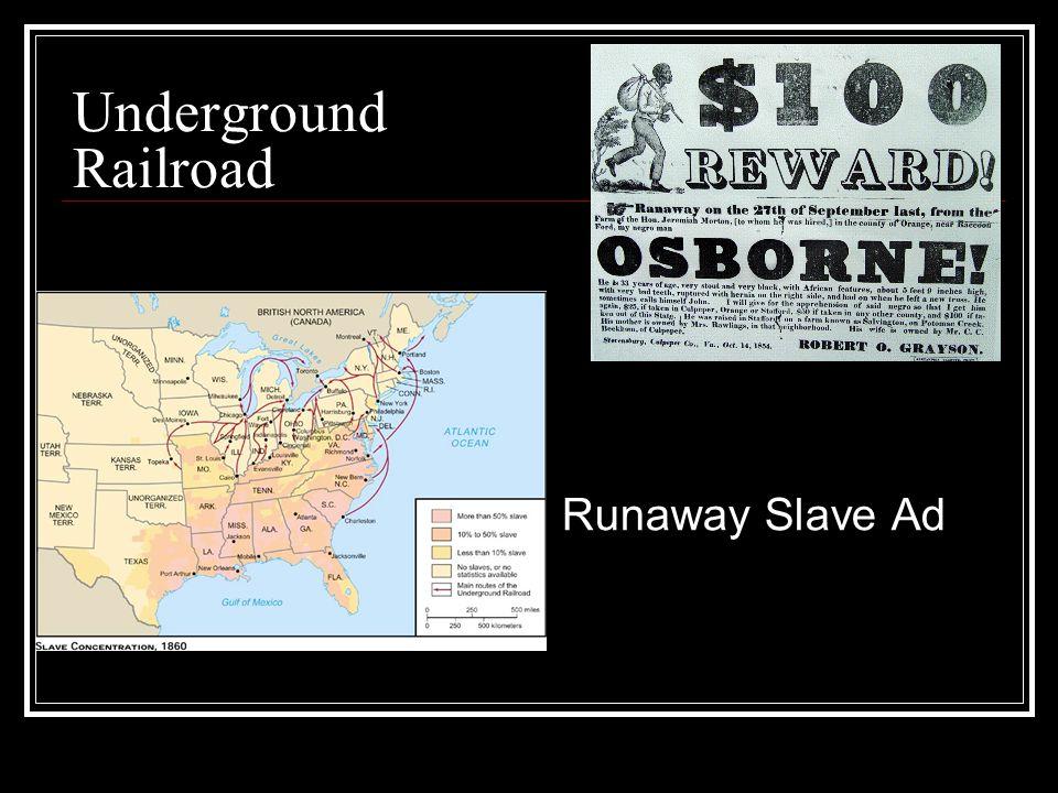Underground Railroad Runaway Slave Ad