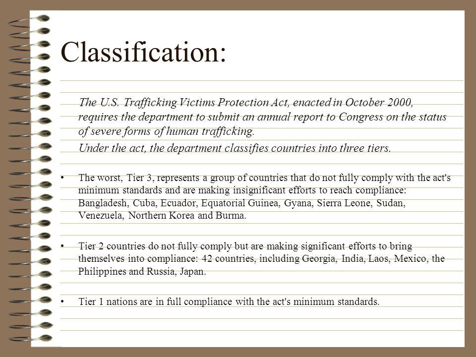 Classification: The U.S.