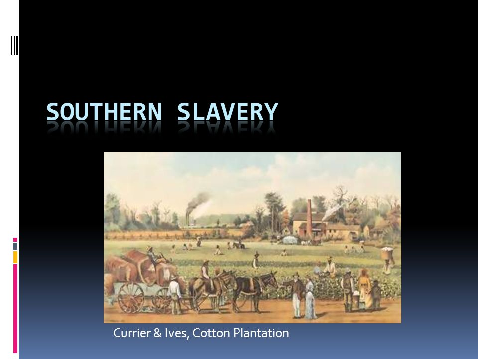 Growing Black Population  600% increase in black population, 179 0-1860  Less than 700,000 in 1790; 4 million by 1860  1 out of every 3 Southerners – majority in Mississippi & South Carolina  Mostly due to natural increase - only 50,000 smuggled in after 1808  260,000 free blacks by 1860 (6% of black population)  Over 10% of all blacks free by 1810, but many states forbade manumission in 1820s-1830s  Required to carry papers & very limited in rights  Could own slaves – 3,200 did so  Many were mulattoes