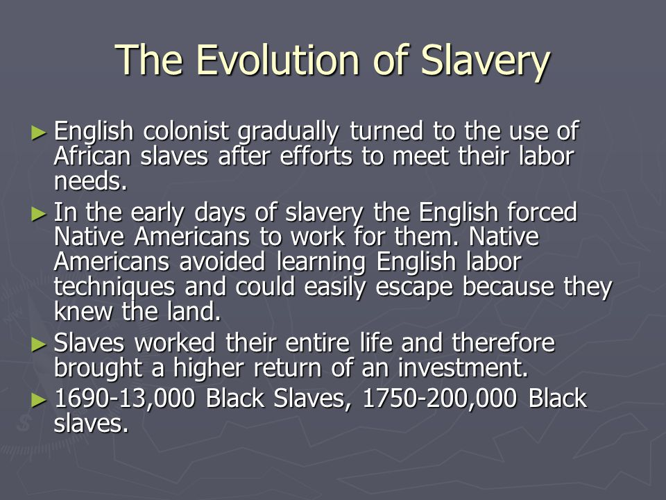 The European Slave Trade ► During the 17 th century Africans had become part of the Triangular Trade network.