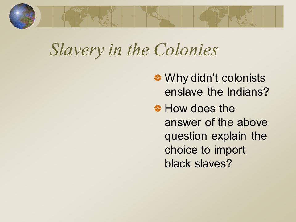 African Slavery Lacked two elements that slavery in the America's had.