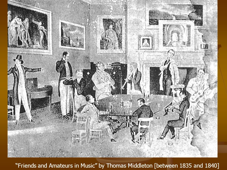 """Friends and Amateurs in Music"" by Thomas Middleton [between 1835 and 1840]"