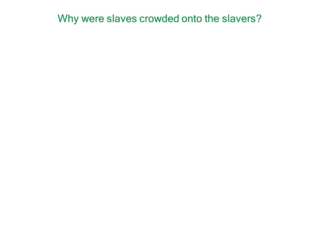 Why were slaves crowded onto the slavers?