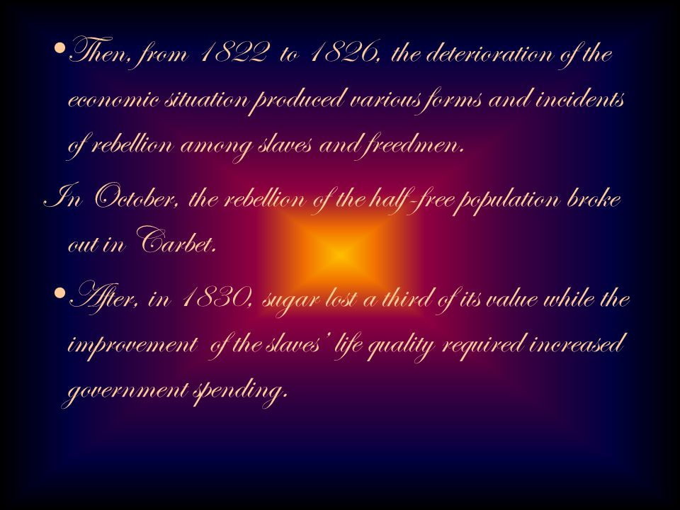 * From 1845, things began to change.
