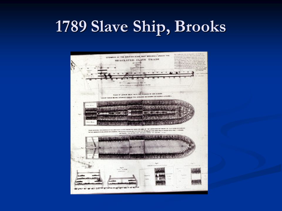1789 Slave Ship, Brooks