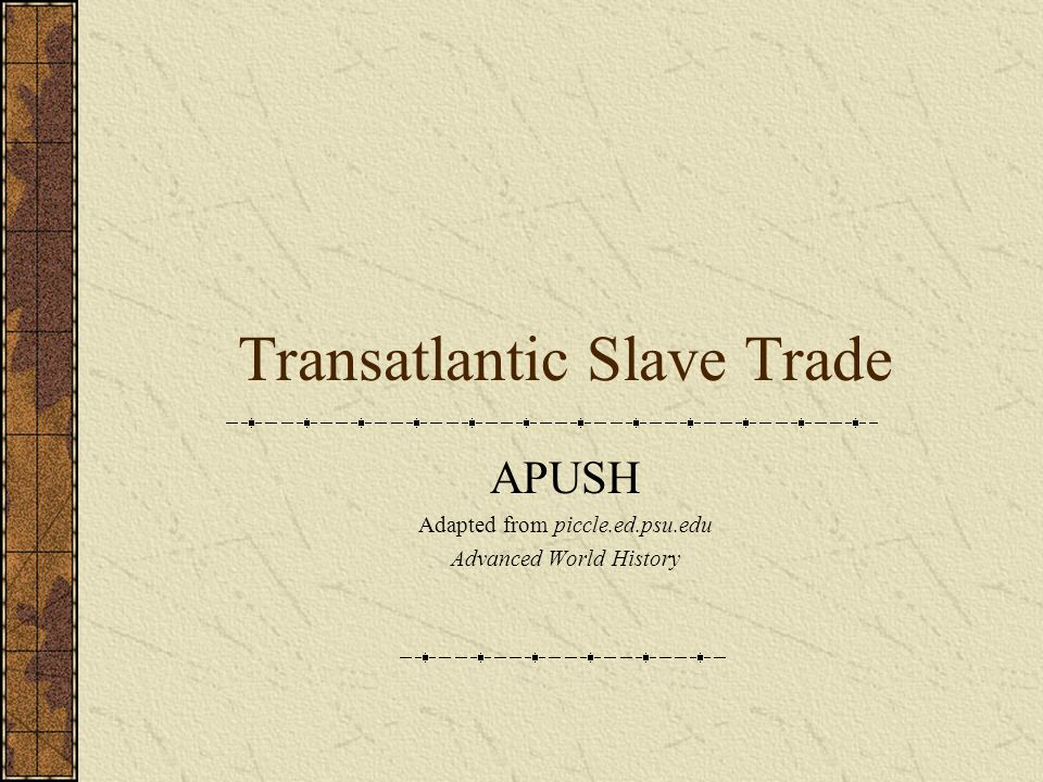 Why was Africa vulnerable to the Slave Trade.