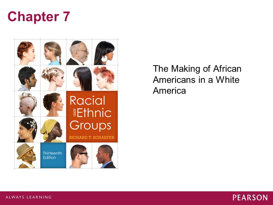 Chapter 7 The Making of African Americans in a White America