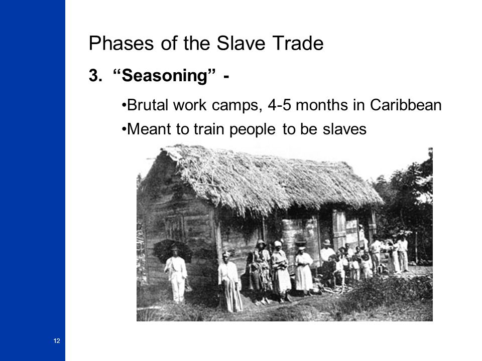 12 Phases of the Slave Trade 3.
