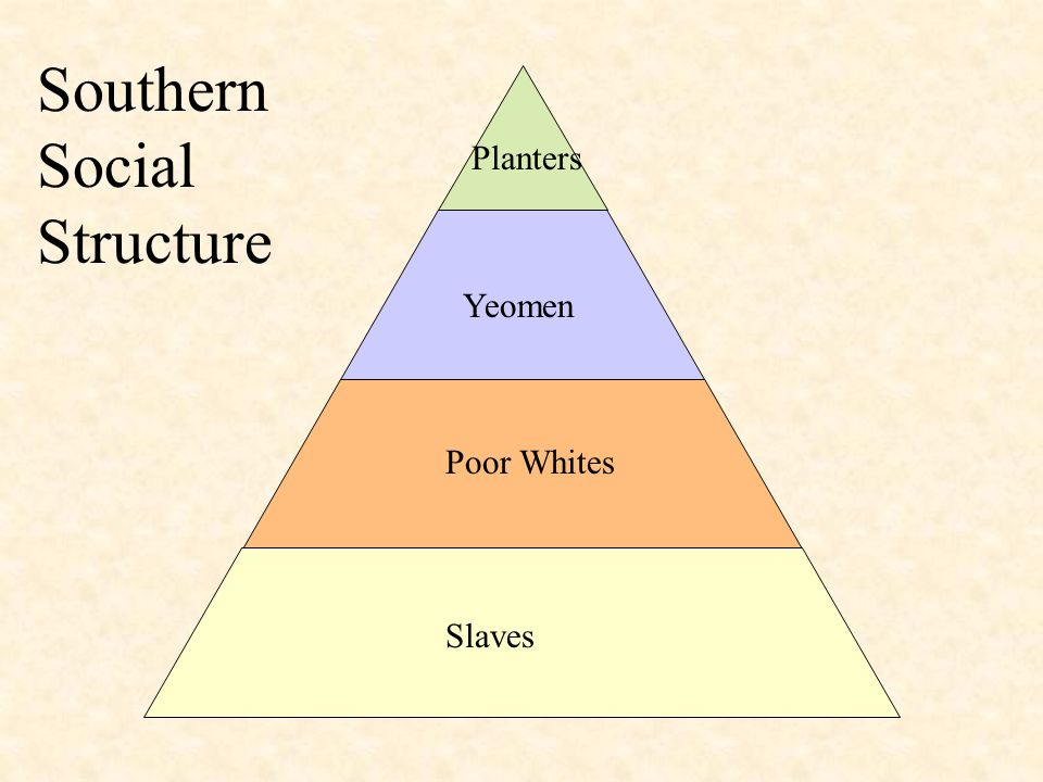 Slaves Poor Whites Yeomen Planters Southern Social Structure
