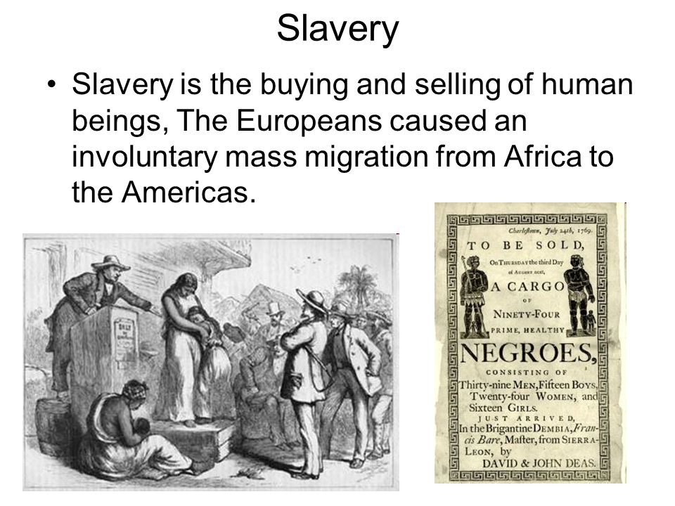 Slaves were captured in West Africa and brought across the Atlantic Ocean to the Caribbean and Brazil.