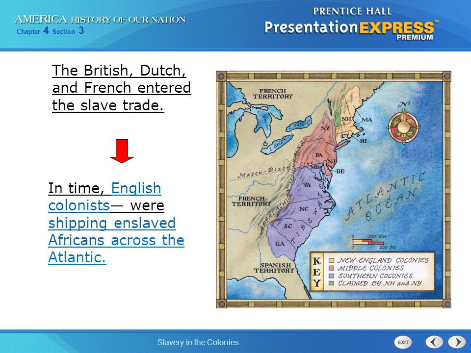 Chapter 4 Section 3 Slavery in the Colonies Why did slavery take root in the colonies.