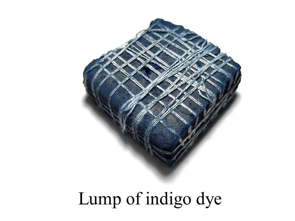 Lump of indigo dye