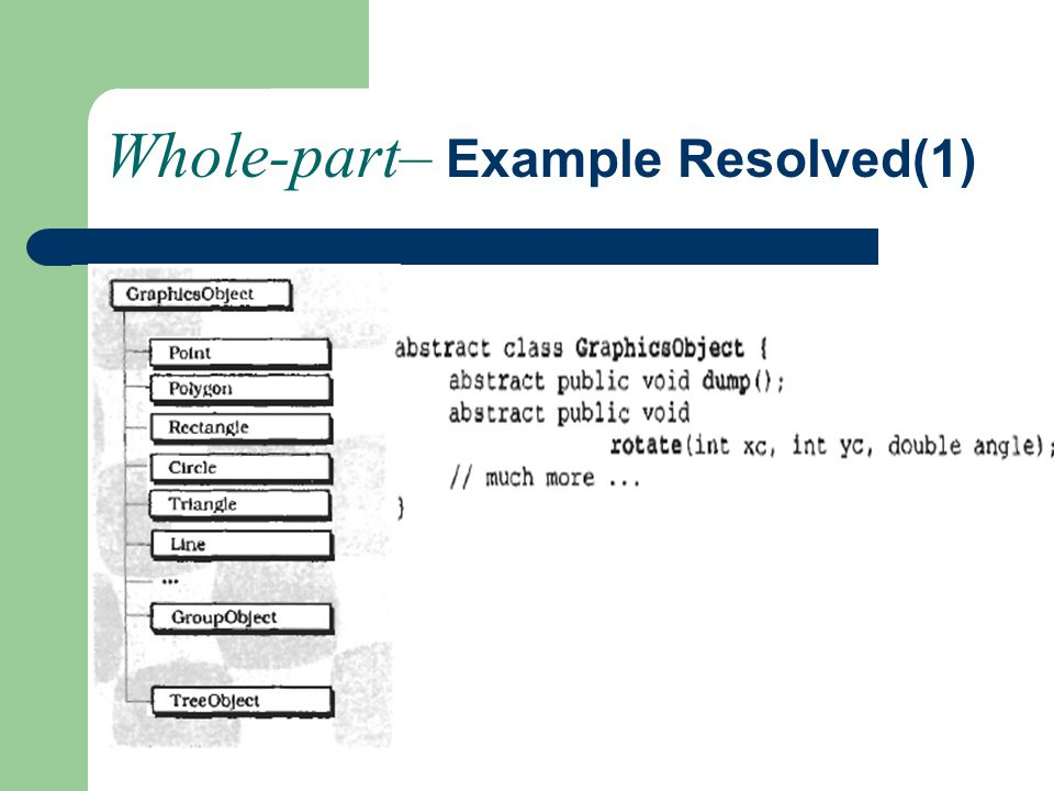 Whole-part– Example Resolved(1)
