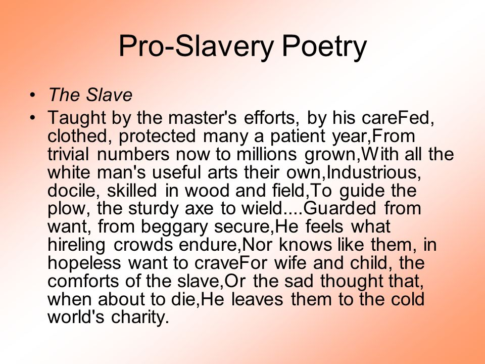 Slavery and Religion During the colonial period, many planters resisted the idea of converting slaves to Christianity out of a fear that baptism would change a slave s legal status.