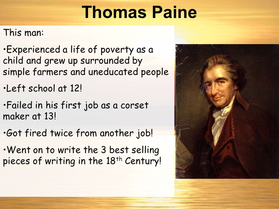 """A hereditary ruler is as absurd an idea as a hereditary mathematician."" www.billofrightsinstitute.org/.../ paine.jpg Thomas Paine"