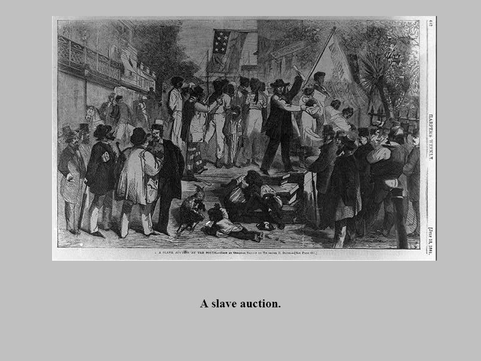 A slave auction.