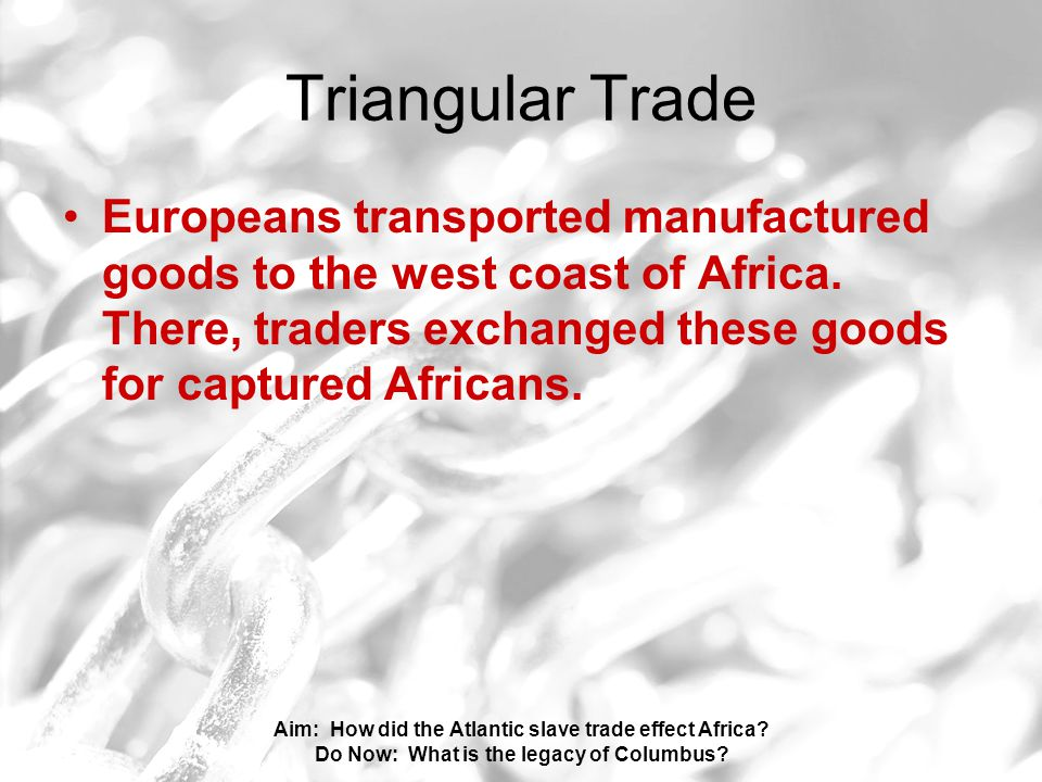 Aim: How did the Atlantic slave trade effect Africa.