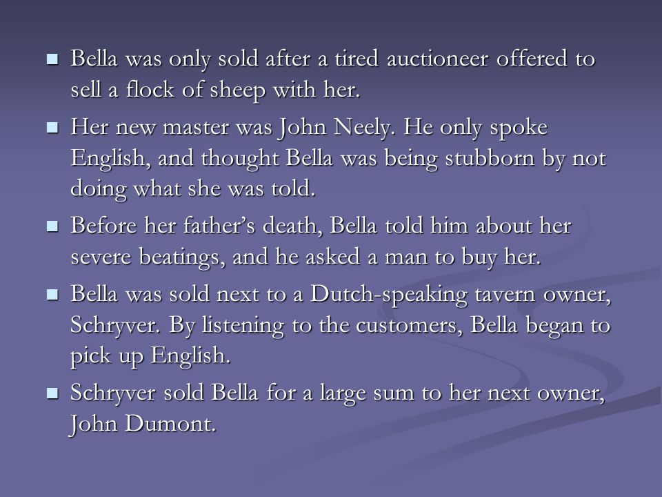 Bella was only sold after a tired auctioneer offered to sell a flock of sheep with her. Bella was only sold after a tired auctioneer offered to sell a