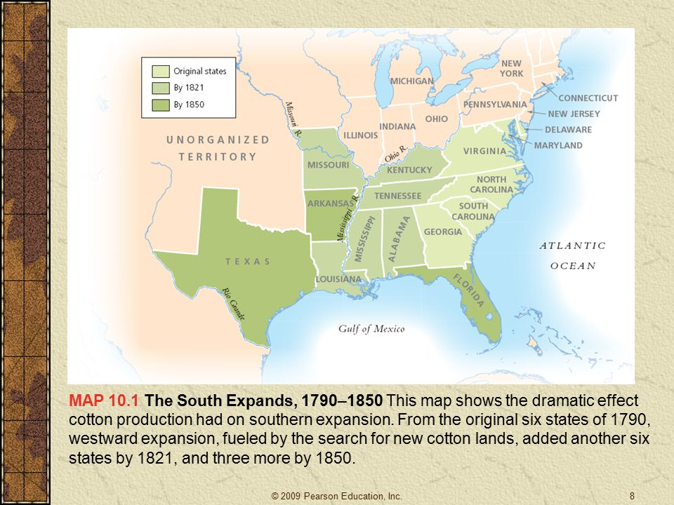 The Maturation of the American Slave System Congress banned the slave trade in 1808 so the South relied on natural increase and the internal slave trade.