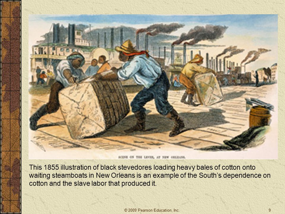 Slavery the Mainspring – Again Map: Cotton Production and the Slave Population, 1820-60 Southern slavery financed northern industrialization.