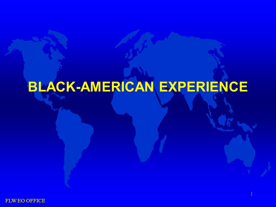 FLW EO OFFICE 1 BLACK-AMERICAN EXPERIENCE
