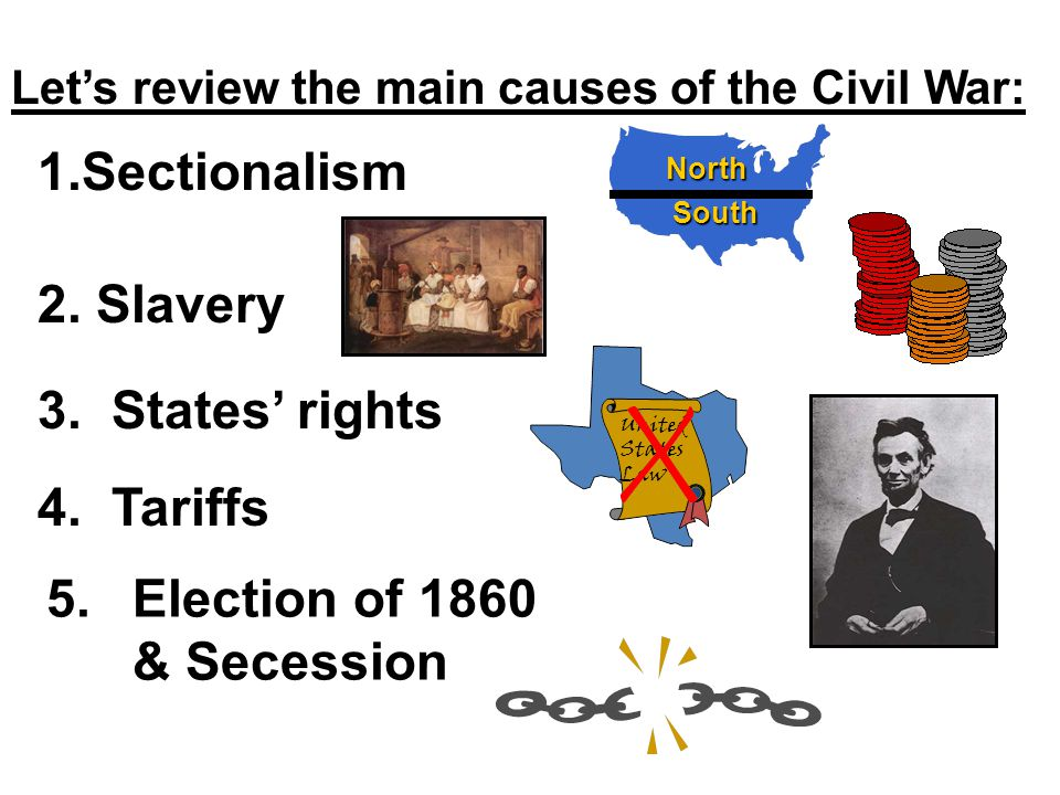 Cause #5 Secession After Lincoln's election, southern states eventually from the Union and formed the.After Lincoln's election, eleven southern states eventually seceded from the Union and formed the Confederate States of America.