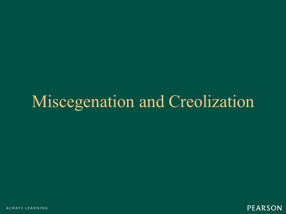 Miscegenation and Creolization