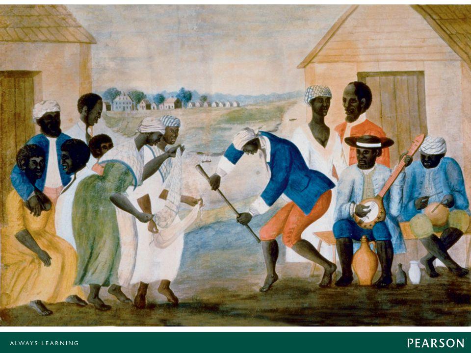 This eighteenth-century painting of slaves on a South Carolina plantation