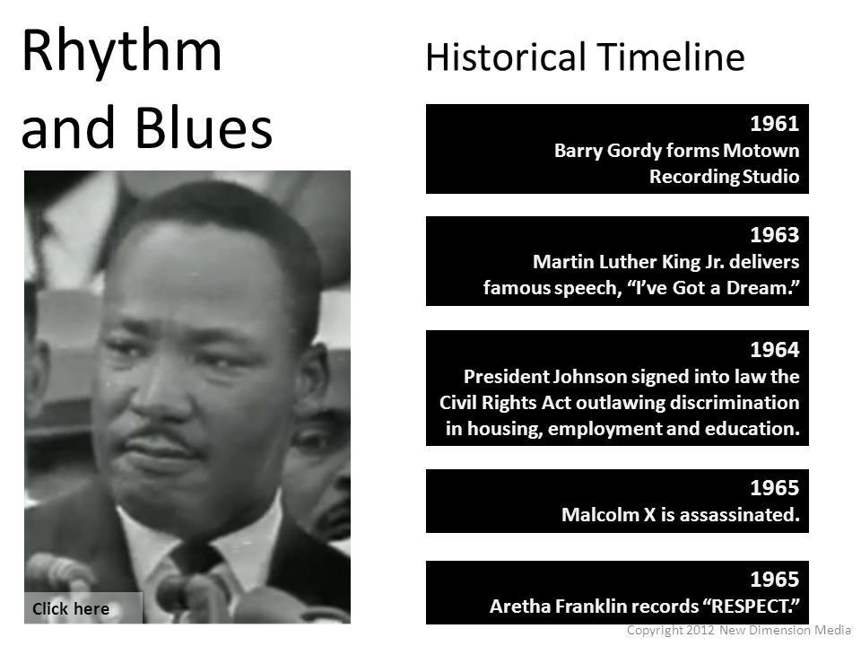 Rhythm and Blues 1963 Martin Luther King Jr.