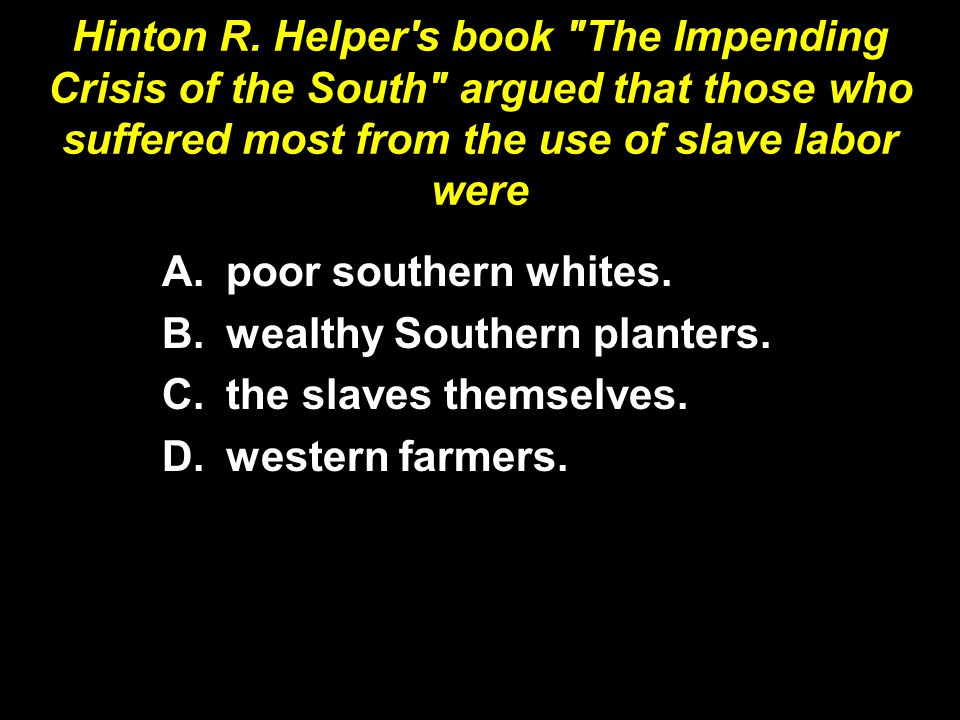 Hinton R. Helper's book