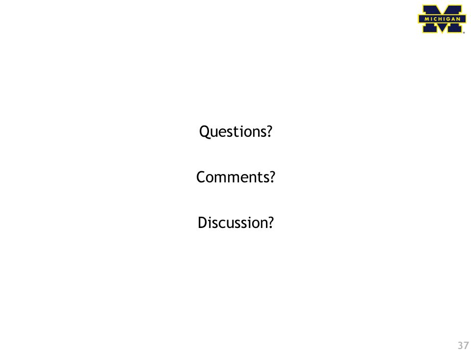 37 Questions Comments Discussion