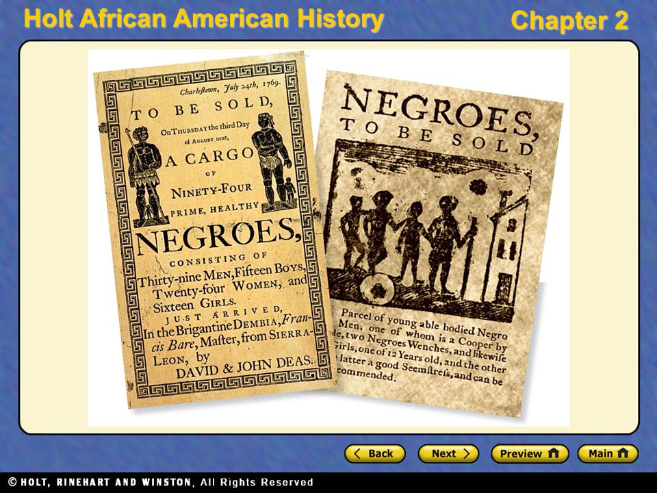 Holt African American History Chapter 2