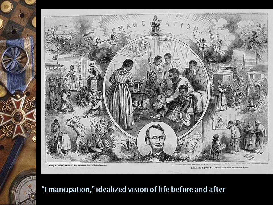 Emancipation, idealized vision of life before and after