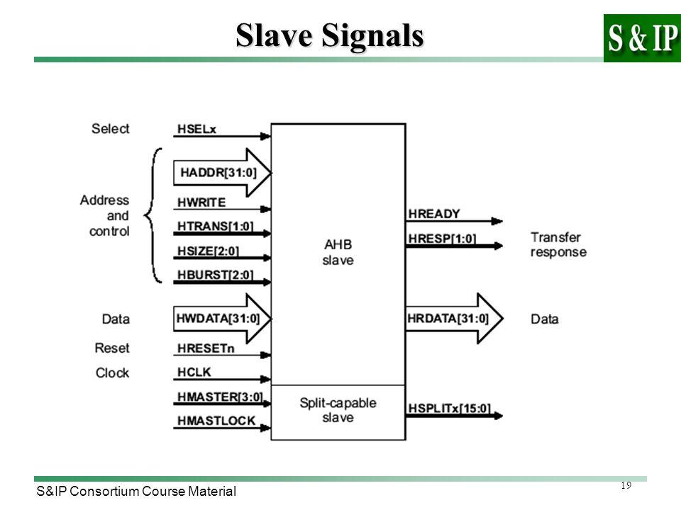19 S&IP Consortium Course Material Slave Signals