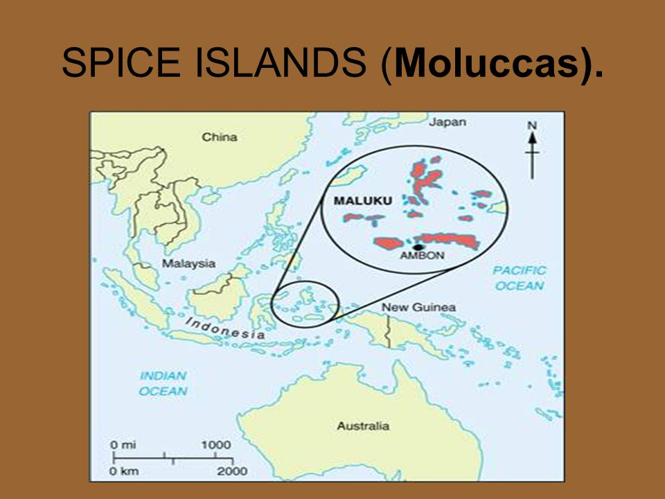 SPICE ISLANDS (Moluccas).