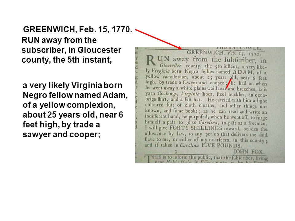 GREENWICH, Feb. 15, 1770.