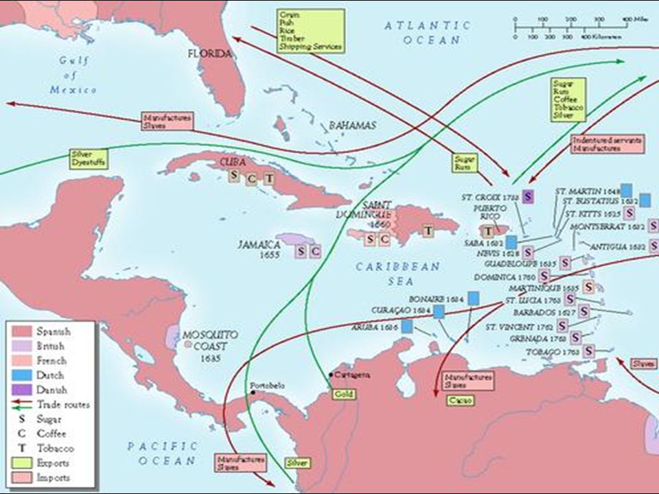 Trans-Atlantic Slave Trade Europeans saw $$$$ Became a trading commodity Jammed aboard ships bound for the Americas Treated like livestock Primary goal = $$$$$$$$$ Africans saw $$ too Captured and traded to Europeans at coastal ports Often traded for guns which helped Africans capture more slaves
