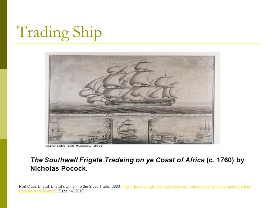 Trade and Triangular Trade Jamaica, one of the biggest destinations for slaves European trading forts on the African coast Ibid,.
