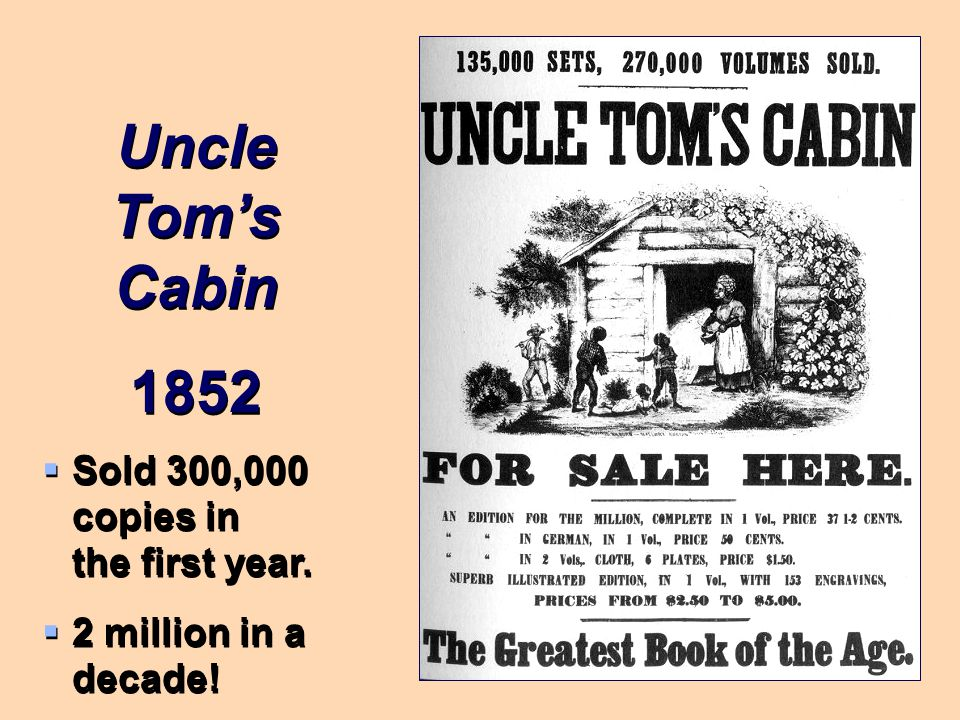 Picture/Stowe Harriet Beecher Stowe, Abolitionist, authored the book Uncle Tom's Cabin Book was used as propaganda to show the inhumanity of slavery.