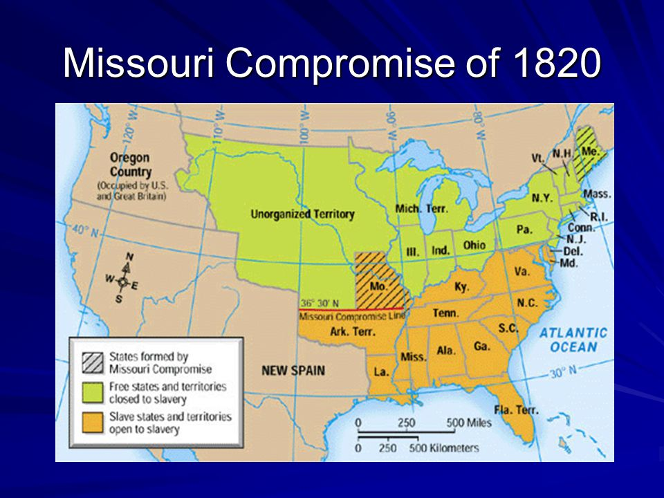 Compromise of 1850 California would be free.