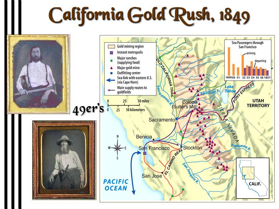 California Gold Rush, 1849 49er's