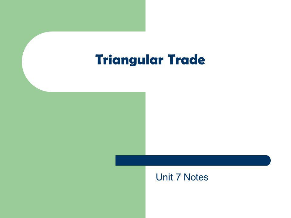 Triangular Trade Unit 7 Notes