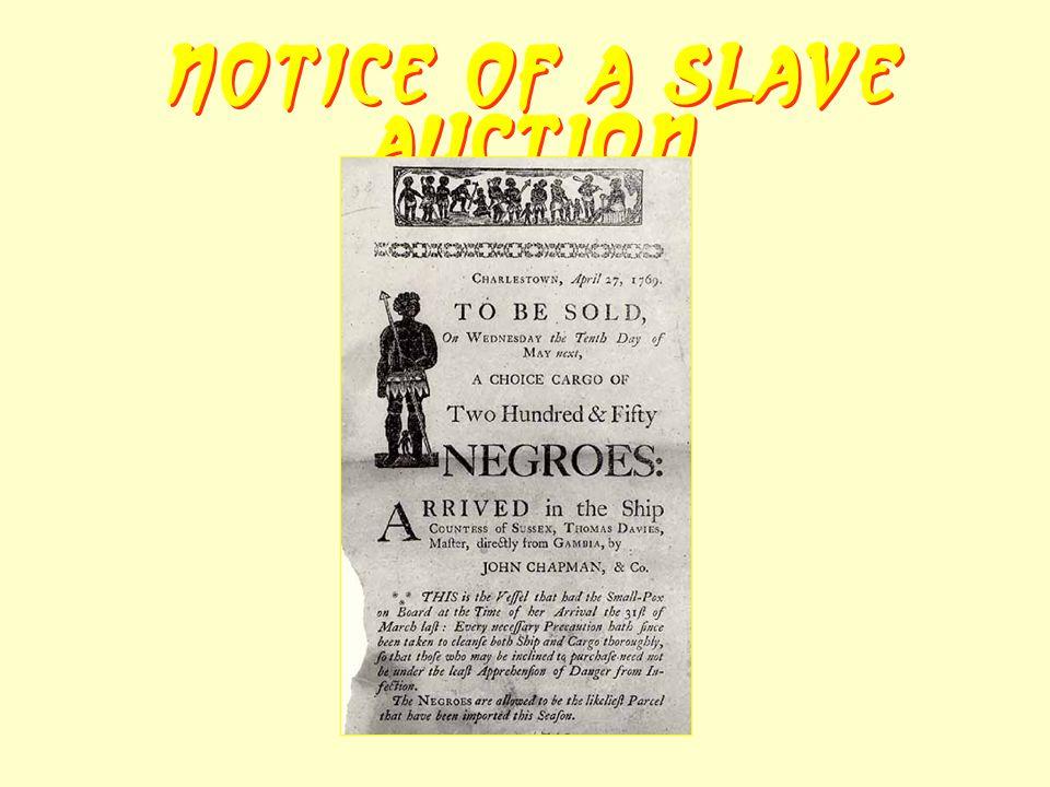 Notice of a Slave Auction