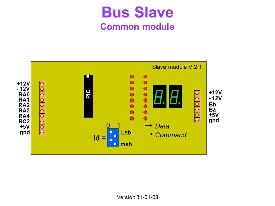 Version 31-01-08 Bus Slave Common module