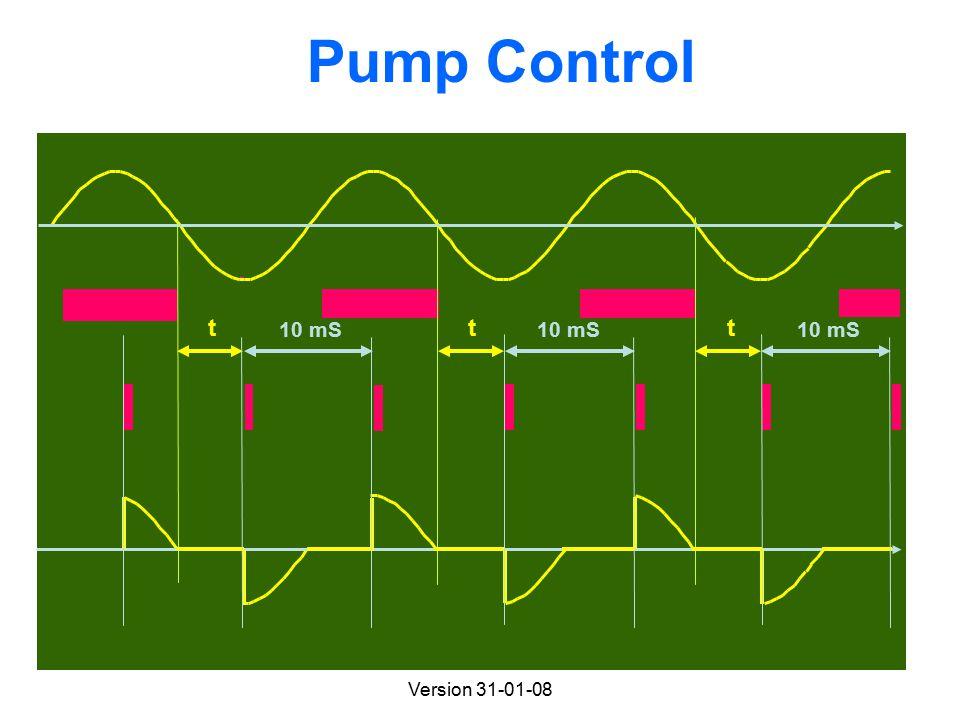 Version 31-01-08 Pump Control 10 mS ttt